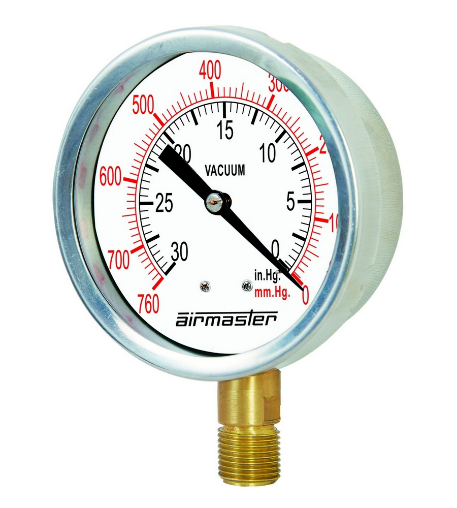 High Pressure Vacuum Gauge : Airmaster special purpose pressure gauges